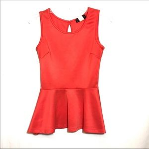 Annabella Peplum Sleeveless Blouse